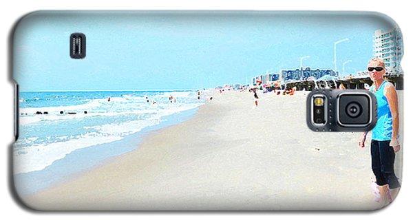 Galaxy S5 Case featuring the photograph Rockaway Beach Sparkle by Maureen E Ritter