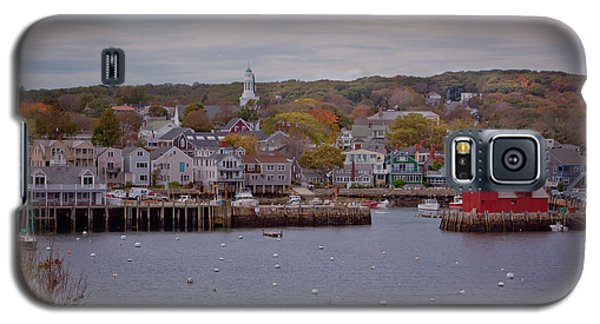 Galaxy S5 Case featuring the photograph Rockport Harbor by Tom Singleton