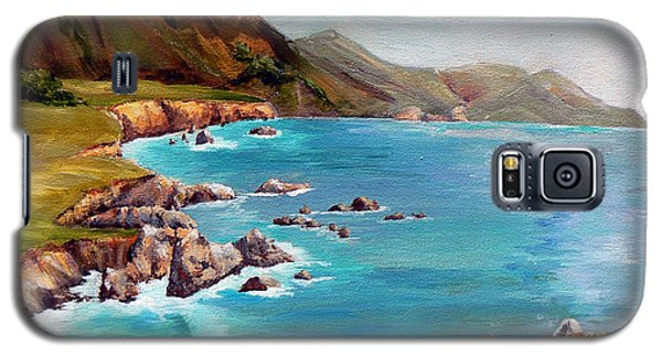 Rocky Point At Big Sur Galaxy S5 Case by Terry Taylor