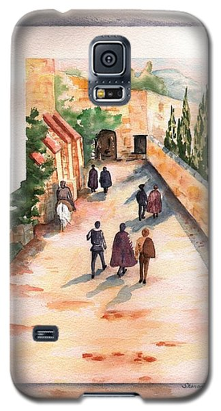 Galaxy S5 Case featuring the painting Roman Avenue by Sharon Mick