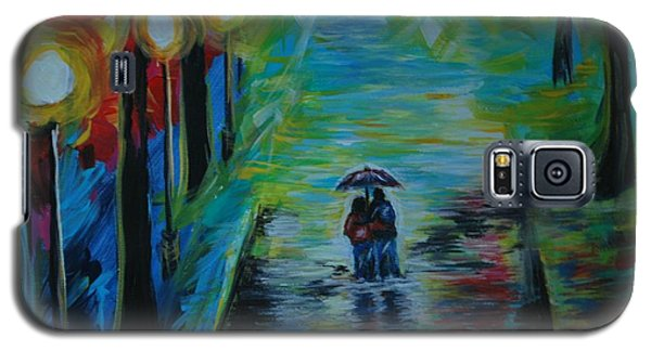 Galaxy S5 Case featuring the painting Romantic Stroll Series II by Leslie Allen