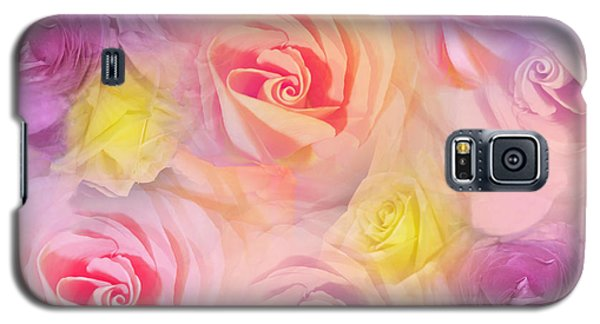 Galaxy S5 Case featuring the photograph Rose Bouquet by Cindy Lee Longhini