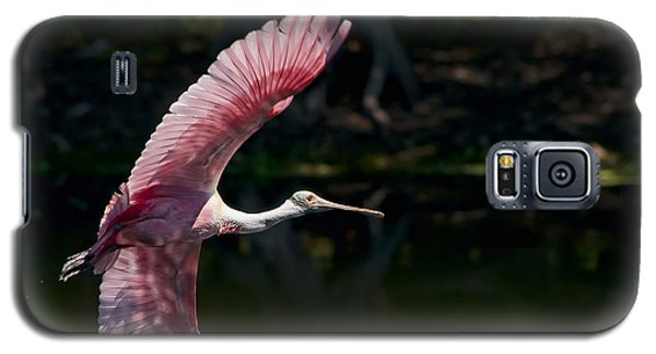 Galaxy S5 Case featuring the photograph Roseate Spoonbill by Steven Sparks