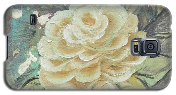 Galaxy S5 Case featuring the painting Rosey by Kathy Sheeran