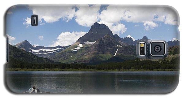 Rowboat At Many Glacier Galaxy S5 Case