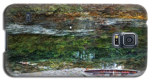 Galaxy S5 Case featuring the photograph Rowboat In The Slough by Michele Cornelius