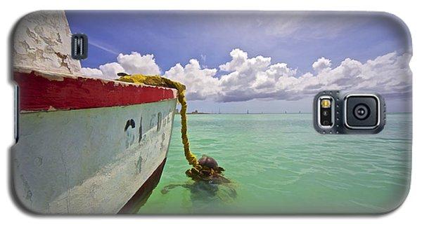 Rustic Fishing Boat Of Aruba Galaxy S5 Case