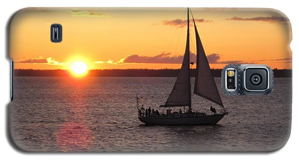 Galaxy S5 Case featuring the photograph Sailboat At Sunset by Karen Molenaar Terrell