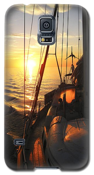Galaxy S5 Case featuring the digital art Sailing by Anne Mott