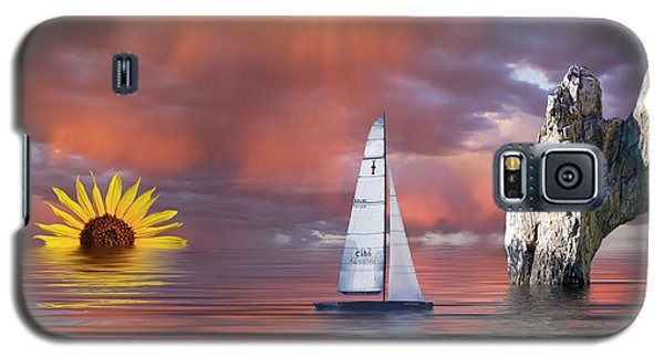 Sailing At Sunset Galaxy S5 Case
