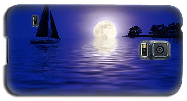 Sailing Into The Moonlight Galaxy S5 Case by Cindy Haggerty