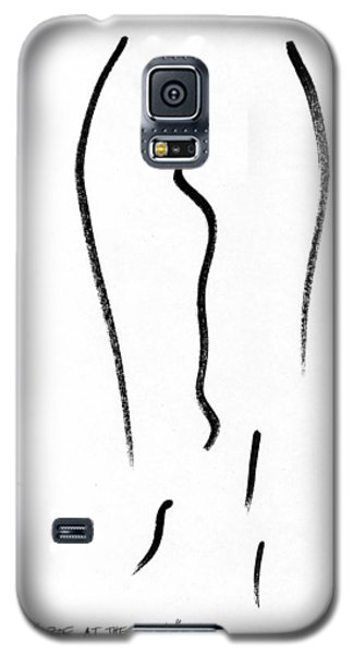 Galaxy S5 Case featuring the painting Salon Betty Zoe At The Easy by Patrick Morgan