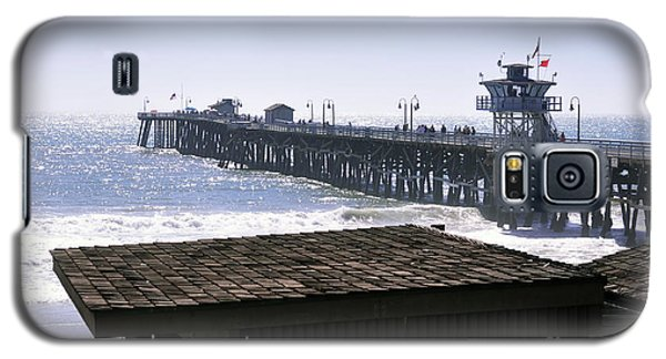 Galaxy S5 Case featuring the photograph San Clemente Pier California by Clayton Bruster