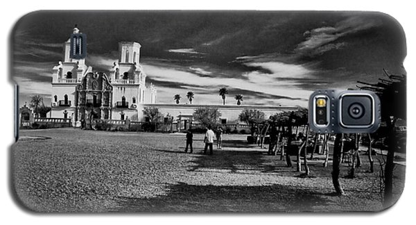 Galaxy S5 Case featuring the photograph San Xavier Del Bac Mission by Tom Singleton