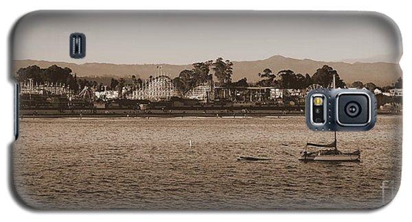 Santa Cruz Boardwalk Sepia Galaxy S5 Case by Garnett  Jaeger