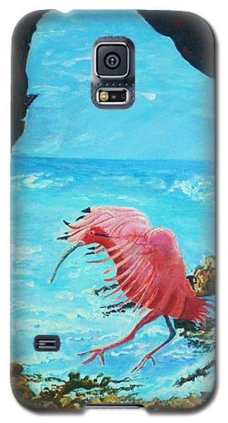 Scarlet Ibis Landing Galaxy S5 Case