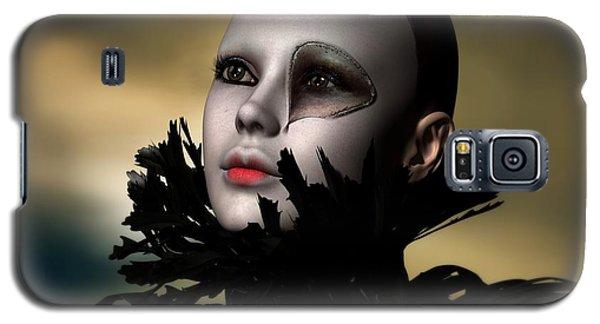 Galaxy S5 Case featuring the digital art Scarred Beauty by Sandra Bauser Digital Art
