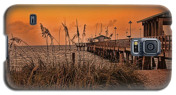 Galaxy S5 Case featuring the photograph Sea Oats At Dawn by Anne Rodkin