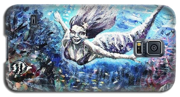 Galaxy S5 Case featuring the painting Sea Surrender by Shana Rowe Jackson