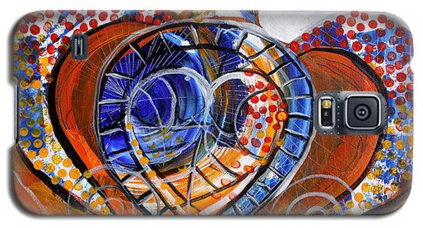 Sea Turtle Love - Orange And White Galaxy S5 Case
