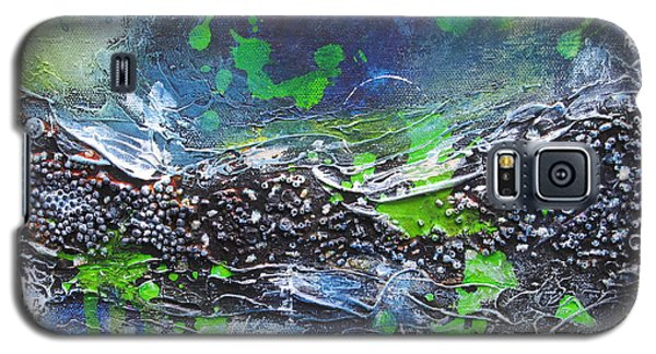 Galaxy S5 Case featuring the painting Sea World by Nicole Nadeau