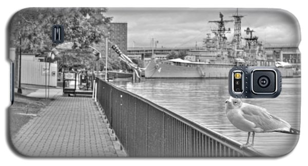 Galaxy S5 Case featuring the photograph Seagull At The Naval And Military Park by Michael Frank Jr