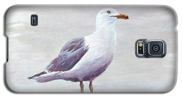 Galaxy S5 Case featuring the painting Seagull by Chriss Pagani