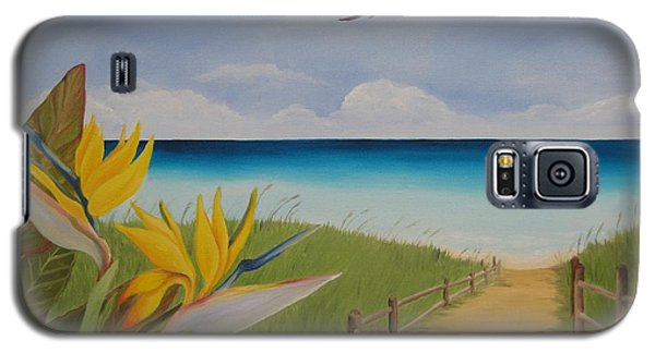 Galaxy S5 Case featuring the painting Seascape by Jindra Noewi