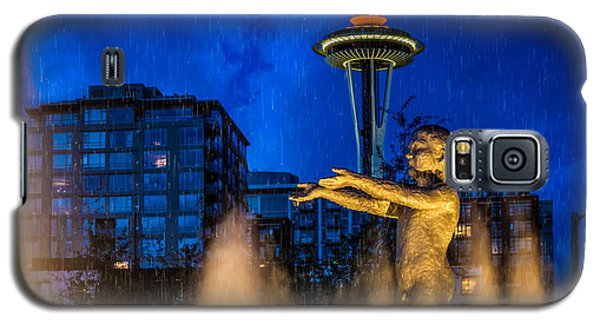Seattle Rain Boy Galaxy S5 Case by Ken Stanback