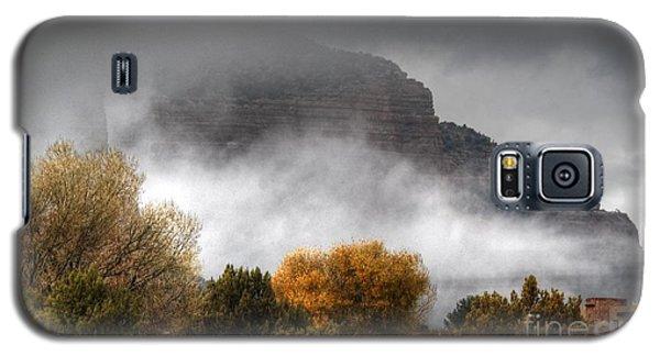 Galaxy S5 Case featuring the photograph Sedona Fog by Tam Ryan