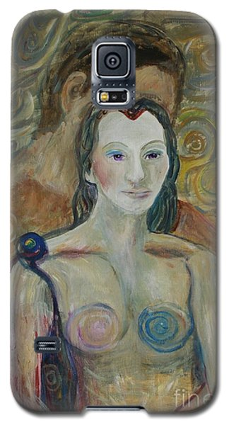 Galaxy S5 Case featuring the painting Seduction by Avonelle Kelsey