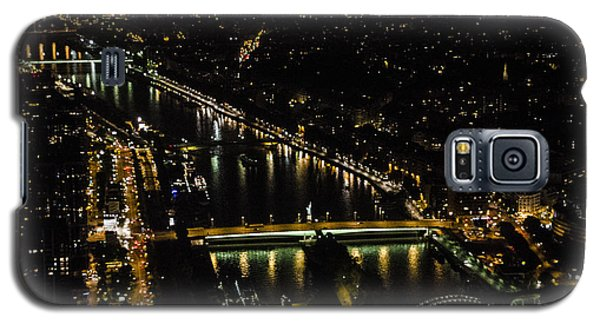 Galaxy S5 Case featuring the photograph Seine River Atop The Eiffel Tower by Marta Cavazos-Hernandez