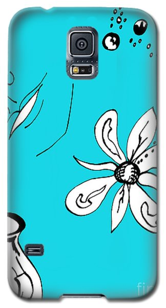 Serenity In Blue Galaxy S5 Case by Mary Mikawoz