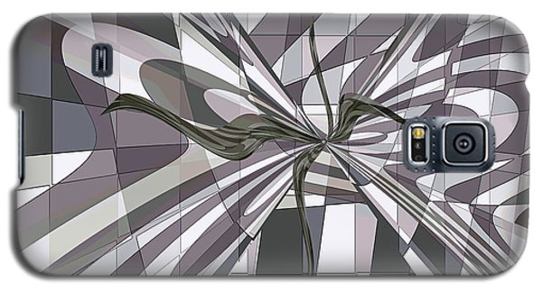Galaxy S5 Case featuring the digital art Shades Of Gray by Ginny Schmidt
