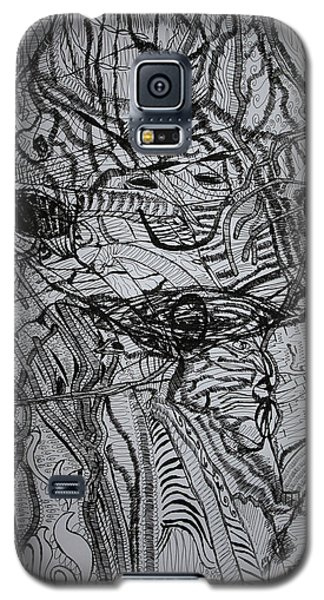 Galaxy S5 Case featuring the drawing Shango by Gloria Ssali