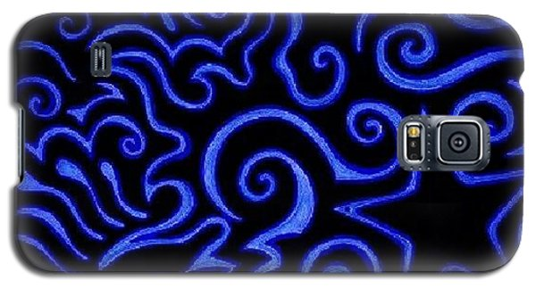 #sharpie #sharpiemarker #blue #heart Galaxy S5 Case