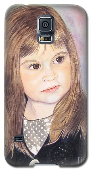 Galaxy S5 Case featuring the painting Shelby by Carol Flagg