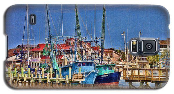Shem Creek Shrimpers Galaxy S5 Case by Bill Barber