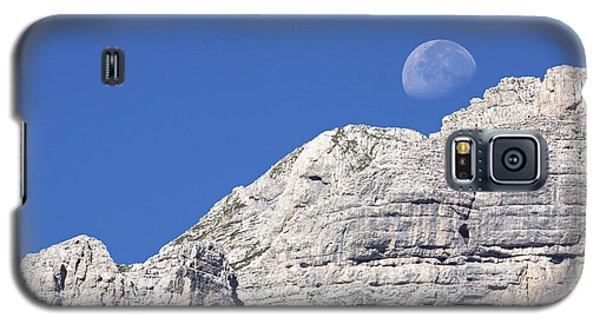 Galaxy S5 Case featuring the photograph Shy Moon by Raffaella Lunelli