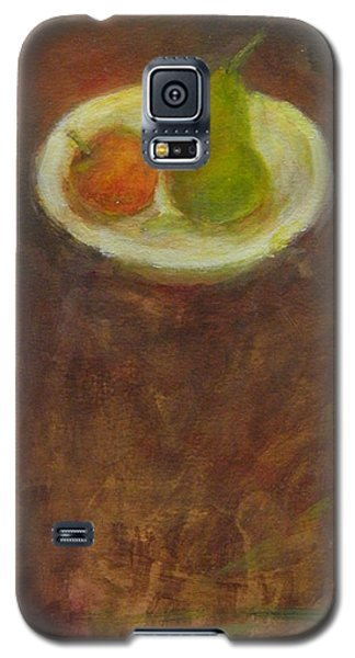 Galaxy S5 Case featuring the painting Side By Side by Kathleen Grace