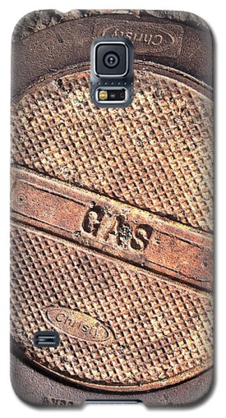 Galaxy S5 Case featuring the photograph Sidewalk Gas Cover by Bill Owen