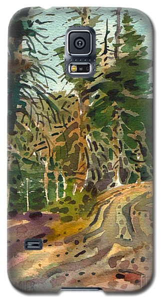 Galaxy S5 Case featuring the painting Sierra Treeline by Donald Maier