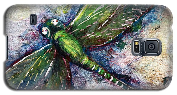 Silver Dragonfly Galaxy S5 Case