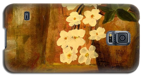 Galaxy S5 Case featuring the painting Single Vase In Bloom by Kathy Sheeran