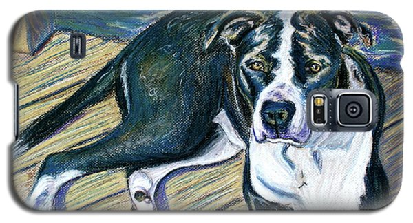 Galaxy S5 Case featuring the painting Sittin' On The Dock by D Renee Wilson