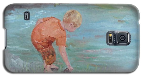 Galaxy S5 Case featuring the painting Skipping Stones by Carol Berning