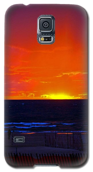 Galaxy S5 Case featuring the photograph Sky Fire by Randall  Cogle