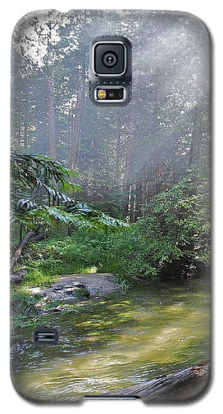 Galaxy S5 Case featuring the photograph Slanting Sunlight On River by Kirsten Giving