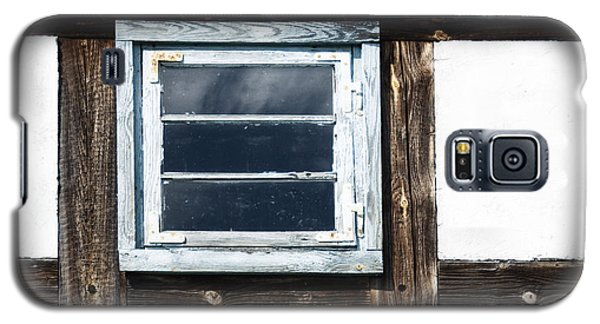 Galaxy S5 Case featuring the photograph Small Blue Window by Agnieszka Kubica