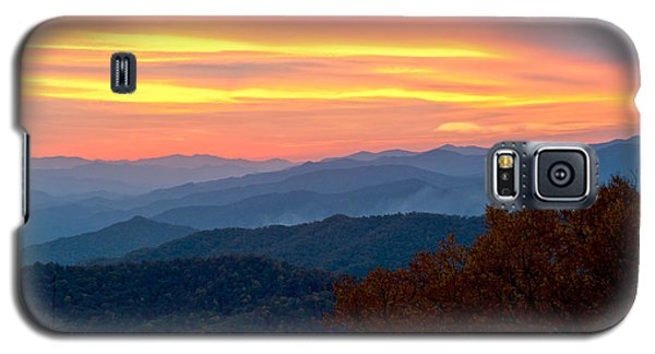 Smoky Mountains Burning Sunset Galaxy S5 Case